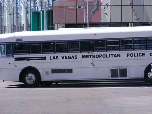 Las Vegas Metropolitan Police Department Bus Parked by the Clark County Detention Center