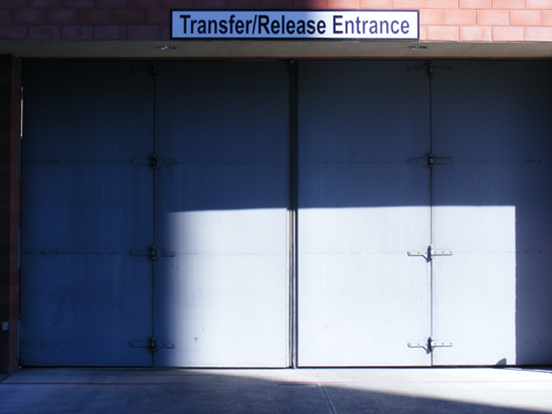 Transfer Release Entrance Security Door at the Clark County Detention Center Downtown Las Vegas
